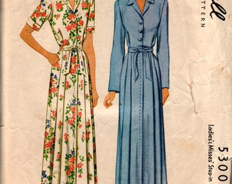 """3 1940's Bathrobe Patterns, Simplicity 1359 & McCall 5300, both bust 34"""" and Butterick 2685, bust 36"""" all used but complete"""