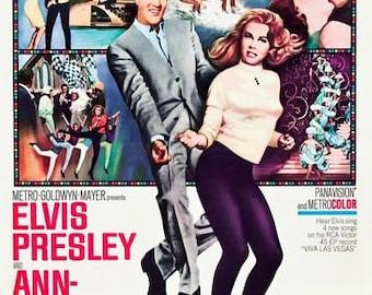 Vintage Viva Las Vegas Elvis Presley Movie Poster A3 Print