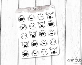 Frustrated Boos Planner Stickers (BS001)
