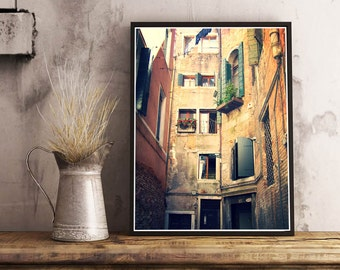 Windows of Venice, Digital download, Venice Italy, rustic photography, Travel Photography, Art Prints, Europe pictures, Italian prints