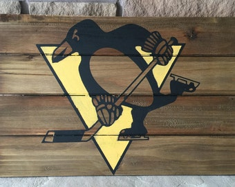 Pittsburgh Penguins Wood Sign