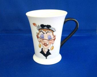 Hand painted, personalised, growing old gracefully mug