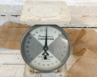 Found vintage American family scale - utility scale - kitchen scale - farmhouse decor