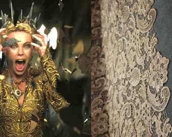 Custom Made Snow White and the Huntsman Evil Queen Gold Lace Gown