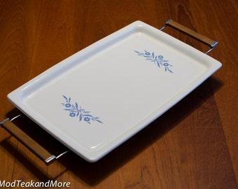 Corningware Cornflower Blue Pattern Broil Bake Bakeware Roaster