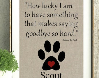 Loss Of A Pet Quote Captivating Death Of Pet  Etsy
