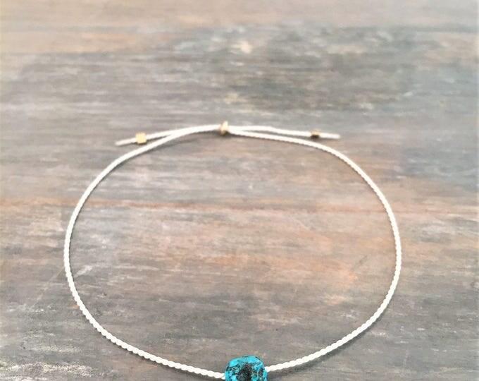 Minimal Turquoise Bracelet, Turquoise Bracelet for women, Turquoise Bracelet, Dainty Turquoise Bracelet, December Birthstone, Gift for her