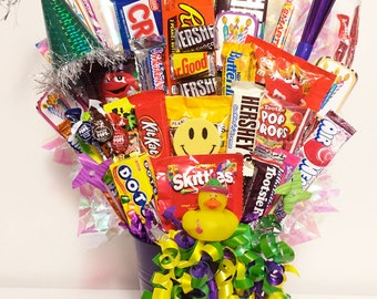 Birthday Party in a Bucket - Birthday Candy Bouquet