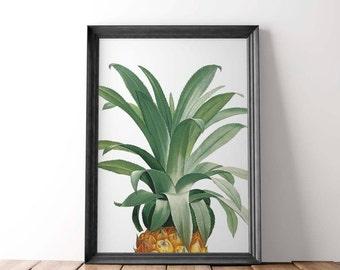 Pineapple Print, Pineapple Print Art, Wall Print Pineapple, Gold Pineapple, Pineapple Wall Art, Pineapple Decor, Pineapple Art