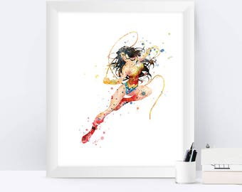 Wonder Woman Wall Art wonder woman nursery | etsy