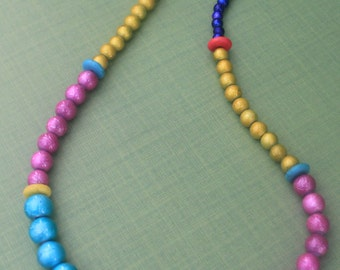 Beaded Jewelry Set / Multi-Color / Pink / Yellow / Blue