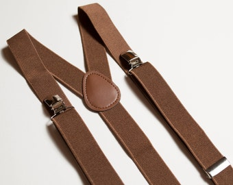 Adult suspenders Brown suspenders Wedding suspenders Mens suspenders Groomsmen suspenders Mens braces Wedding outfit