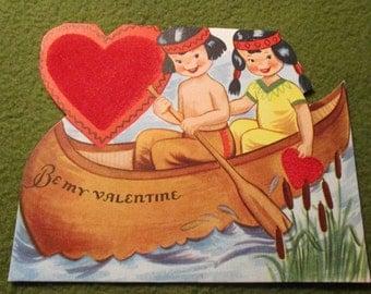 Vintage Valentine - Canoe