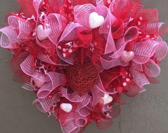 Valentine Day, Valentine Wreath, Valentine Door Wreath, Front Door Wreath, Valentine Door Decoration, Valentine Gift, Wreath.