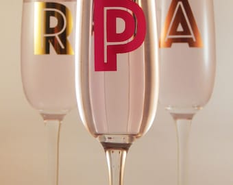 Monogrammed Premium Champagne Flute