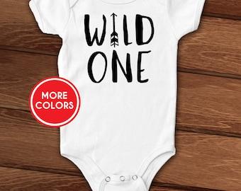 Wild One custom baby bodysuit, layette, wild child, baby shower gift, first birthday, newborn, infant