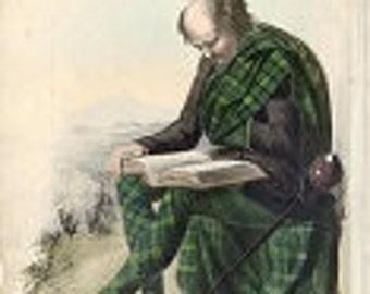 Scottish Clan Campbell of Argyle RR McIan antique