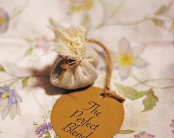 10 CUSTOM Tea Bag WEDDING Favor-Natural Biodegradable Loose Leaf Tea!!!