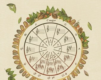 Circle of Fifths / Music Theory/ Prints
