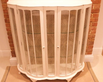 Vintage Glass China Cabinet