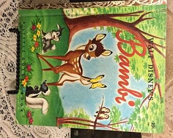 1948 Bambi Little Golden Book T Edition Walt Disney #D90