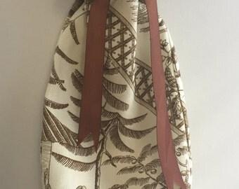 Designer linen wine gift bag