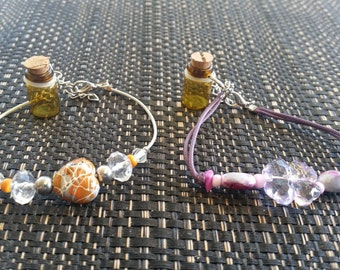 Essential Oil Bottle Bracelets with Charms