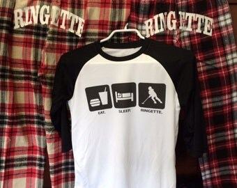 Ringette Moisture Wicking Baseball T-Shirt - Youth and Adult