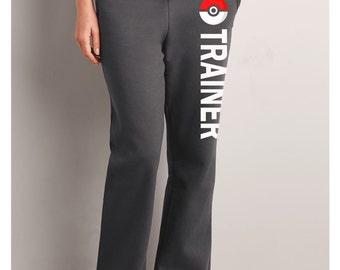Pokémon Trainer Sweatpants, Pokemon Trainer Pocket Women Black Sweatpants, Pokemon Go Sweatpants, Pokemon Women Pants