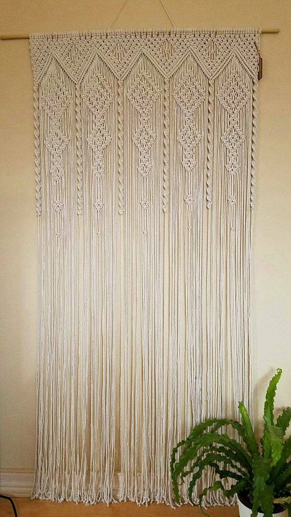 Items Similar To Macrame Curtain Room Divider Door Curtain