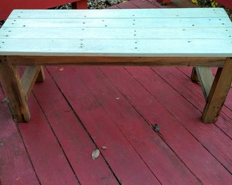 Rustic Bench, Wood Bench,  Farmhouse Bench, Wood Seat