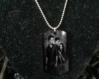 Silver plated Twilight  necklace Army ID, Dog tag necklace, Twilight jewelry, new moon