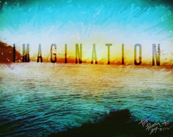 Laminated Art Print 'IMAGINATION' A4 Sized Image