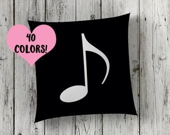 Music Note Pillow // Music Pillow // Music Toss Pillow // Music Throw Pillow // Music Decor // Music Pillow Case // Music Room // Music