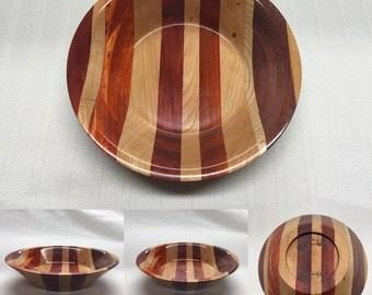 Bowl: Cherry, Padauk, Redheart, Ash and Purpleheart