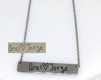 Custom Handwriting Necklace, Signature Necklace, Engraved Signature Handwriting, Gift for Mom, Signature Necklace, Handwritten Engraving