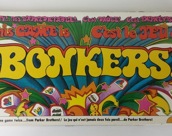 This Game is BONKERS! - 1978 Parker Brothers Vintage Board Game - It's Zaxy, It's Unpredictable! It's Never the Same Game Twice!