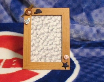 Baseball in a Picture Frame (Blue)