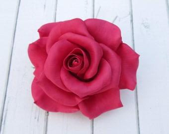 Bordo Rose Hairpin - Red Flowers Hair Pin Decoration - Flowers hair accessories - Prom Hair Accessories Flowers - Formal Hair Accessories