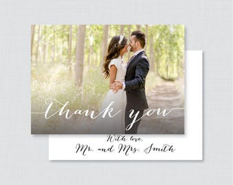Printable OR Printed Photo Thank You Cards - Wedding Thank You Cards with Photo, Personalized Picture Thank You Cards, Custom Thank You 0004