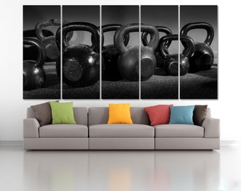 Weight Extra Large Wall Art,  Gymnastics Equipment Canvas Print, Gym Motivation Art Print, Workout Wall Art, Weightlifting Motivation Poster