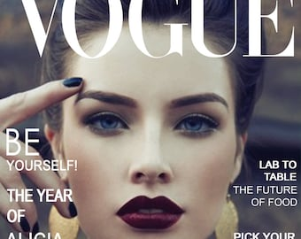 Custom Vogue Magazine Cover with youre photo (digital file)