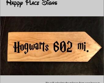 Custom sign to Hogwarts