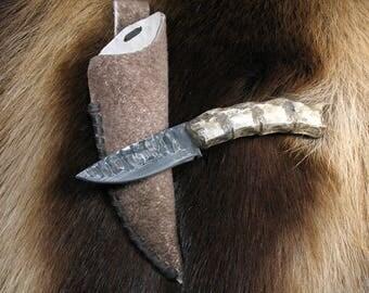 Forged Iron Handmade Wolverine Knife Hunting Tool Jewelry Shaman attribute