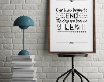 Selma Speech on Courage - Martin Luther King Jr Quotes Poster *Unframed A3 Print*