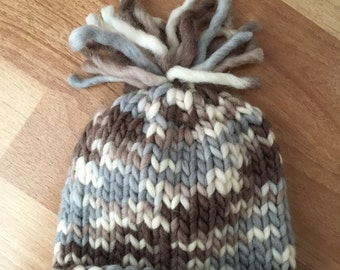 Tassled Baby Hat