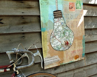 Wall decor - Canvas art Capsule Map