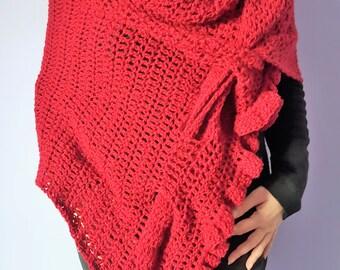 shawl, scarf, shrug, poncho did crochet
