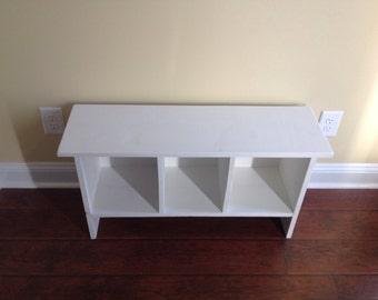 Bench,  Entry way organizational bench,  match to rustic coat rack, shoe bench, cubby bench, organizational storage