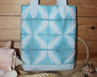 "shibori bag ""Sea of ice"""